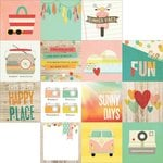 Simple Stories - Summer Vibes Collection - 12 x 12 Double Sided Paper - 4 x 4 Elements