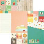 Simple Stories - Summer Vibes Collection - 12 x 12 Double Sided Paper - 2 x 2 and 6 x 8 Elements