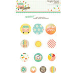 Simple Stories - Summer Vibes Collection - Decorative Brads
