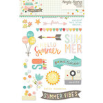 Simple Stories - Summer Vibes Collection - Clear Photo Stickers