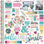 Simple Stories - So Fancy Collection - 12 x 12 Cardstock Stickers - Fundamentals