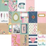 Simple Stories - So Fancy Collection - 12 x 12 Double Sided Paper - 3 x 4 Journaling Card Elements