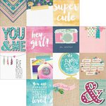 Simple Stories - So Fancy Collection - 12 x 12 Double Sided Paper - 4 x 4 Elements
