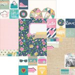 Simple Stories - So Fancy Collection - 12 x 12 Double Sided Paper - 2 x 2 and 6 x 8 Elements