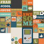 Simple Stories - So Rad Collection - 12 x 12 Double Sided Paper - 2 x 2 and 4 x 6 Elements