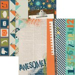 Simple Stories - So Rad Collection - 12 x 12 Double Sided Paper - 2 x 12, 4 x 12 and 6 x 12 Elements