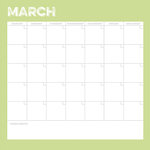 Simple Stories - Life Documented Collection - 12 x 12 Double Sided Paper - March Calendar