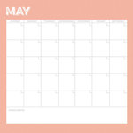 Simple Stories - Life Documented Collection - 12 x 12 Double Sided Paper - May Calendar