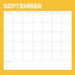 Simple Stories - Life Documented Collection - 12 x 12 Double Sided Paper - September Calendar