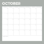 Simple Stories - Life Documented Collection - 12 x 12 Double Sided Paper - October Calendar
