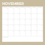 Simple Stories - Life Documented Collection - 12 x 12 Double Sided Paper - November Calendar