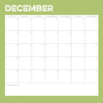 Simple Stories - Life Documented Collection - 12 x 12 Double Sided Paper - December Calendar