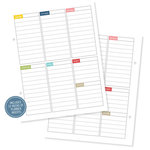 Simple Stories - SNAP Collection - 6 x 8 Journal Inserts - Life Documented - Weekly Planner