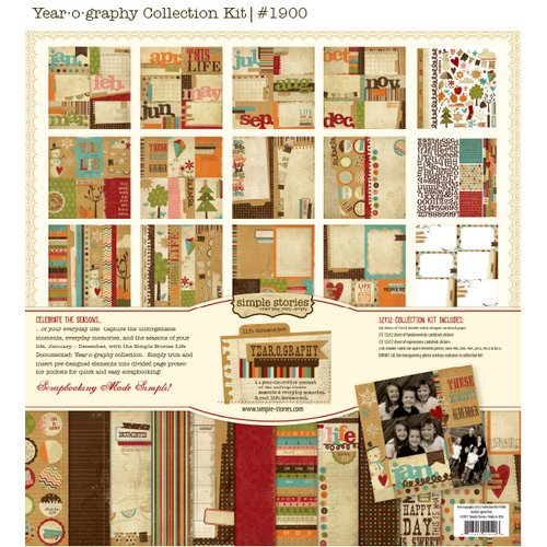 Simple Stories - Year-o-graphy Collection - 12 x 12 Paper Pad