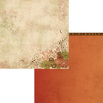 Moxxie - Autumn Glory Collection - 12 x 12 Double Sided Paper - Fanciful Flowers