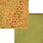 Moxxie - Autumn Glory Collection - 12 x 12 Double Sided Paper - Foliage in Flight