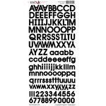 Moxxie - Cardstock Stickers - Alphabet - Black
