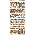 Moxxie - Cardstock Stickers - Alphabet - Brown