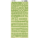 Moxxie - Cardstock Stickers - Alphabet - Green