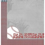 Moxxie - All Star Baseball Collection - 12 x 12 Double Sided Paper - Play Ball
