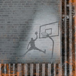Basketball Collection - 12 x 12 Double Sided Paper - Slam Dunk by Moxxie