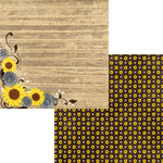 Moxxie - Country Chic Collection - 12 x 12 Double Sided Paper - Sunflowers