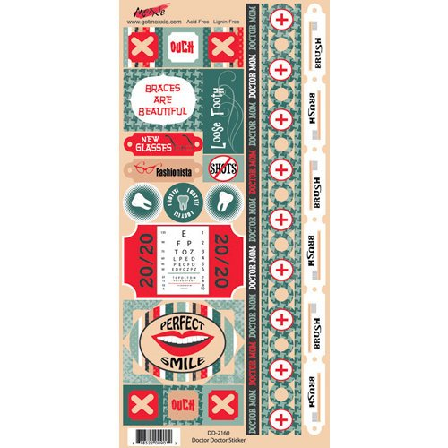 Moxxie - Doctor Doctor Collection - Cardstock Stickers - Elements
