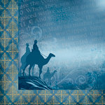 Moxxie - Faith Collection - 12 x 12 Double Sided Paper - Wise Men