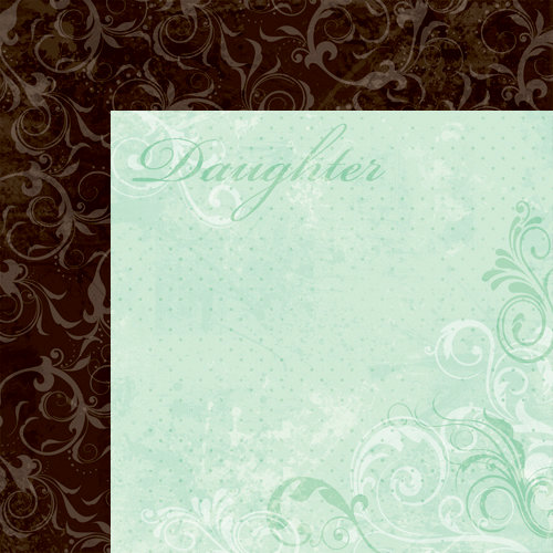 Moxxie - Forever Family Collection - 12 x 12 Double Sided Paper - Daughter