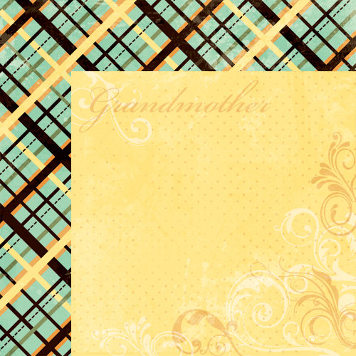 Moxxie - Forever Family Collection - 12 x 12 Double Sided Paper - Grandmother