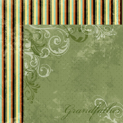 Moxxie - Forever Family Collection - 12 x 12 Double Sided Paper - Grandfather