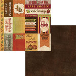 Moxxie - Fall Harvest Collection - 12 x 12 Double Sided Paper - Fall Cutouts