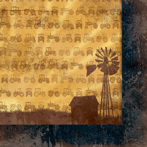 Moxxie - Farm Livin' Collection - 12 x 12 Double Sided Paper - In the Fields