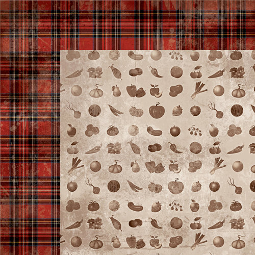 Moxxie - Farm Livin' Collection - 12 x 12 Double Sided Paper - Garden Variety