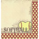 Moxxie - Fastpitch Collection - 12 x 12 Double Sided Paper - Play with Heart