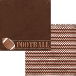 Moxxie - Grid Iron Collection - 12 x 12 Double Sided Paper - Football