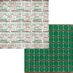 Moxxie - Grid Iron Collection - 12 x 12 Double Sided Paper - Field Goal