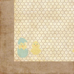 Homespun Easter Collection - 12 x 12 Double Sided Paper - Chick-a-Dee by Moxxie