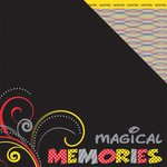 Moxxie - Magical Moments Collection - 12 x 12 Double Sided Paper - Magical Memories