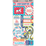 Moxxie - Midway Madness Collection - Cardstock Stickers - Elements