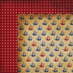 Moxxie - Nautical Collection - 12 x 12 Double Sided Paper - Ship Ahoy