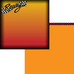 Moxxie - Racing Collection - 12 x 12 Double Sided Paper - Racing