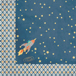 Reach for the Stars Collection - 12 x 12 Double Sided Paper - Rocketman by Moxxie