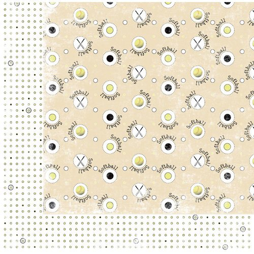 Moxxie - Curve Ball Collection - 12 x 12 Double Sided Paper - Fast Pitch