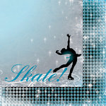 Moxxie - Ice Skating Collection - 12 x 12 Double Sided Paper - Triple Axel