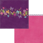 Moxxie - Springtime Collection - 12 x 12 Double Sided Paper - Butterfly Garden