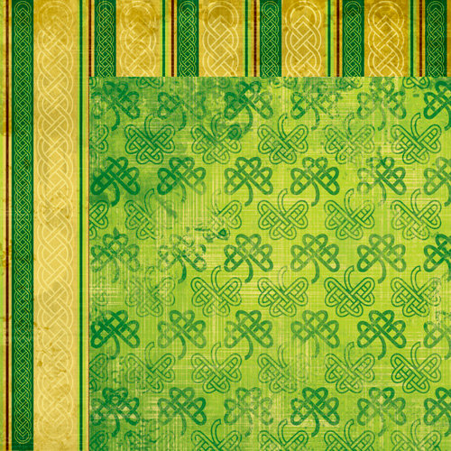 Moxxie - St. Patrick's Day Collection - 12 x 12 Double Sided Paper - Shamrockin'