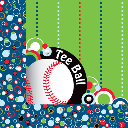 Moxxie - Tee Ball Collection - 12 x 12 Double Sided Paper - Game Ball