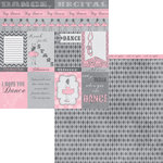 Moxxie - Tiny Dancer Collection - 12 x 12 Double Sided Paper - Tiny Dancer Cutouts