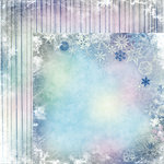 Moxxie - Winterland Collection - 12 x 12 Double Sided Paper - Flurries